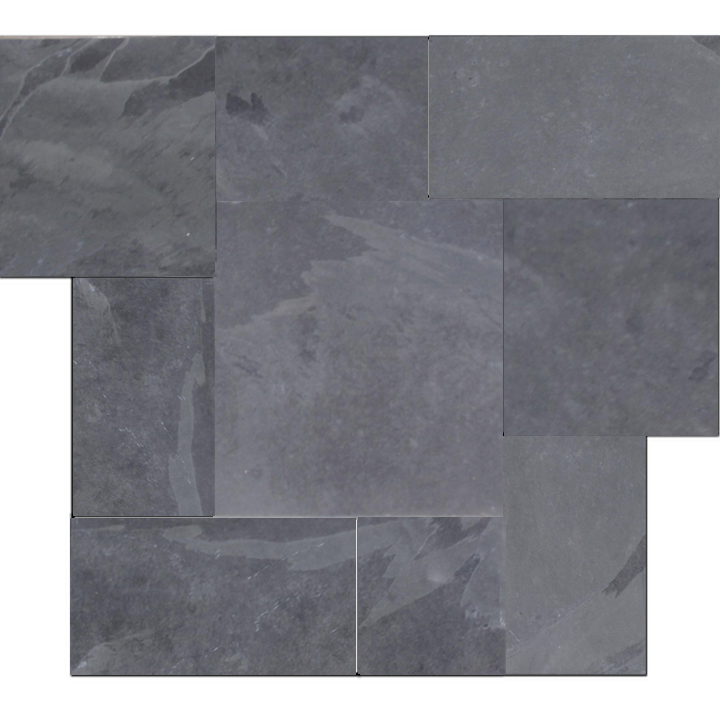 brazilian black montauk black hampshire cleft slate pattern tile 1