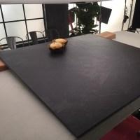 "Brazilian Black ( Montauk Black ) Cleft Slate Tile 18""X18"""