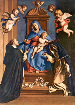 Image of painting Madonna of the Rosary by Giovanni Battista Salvi