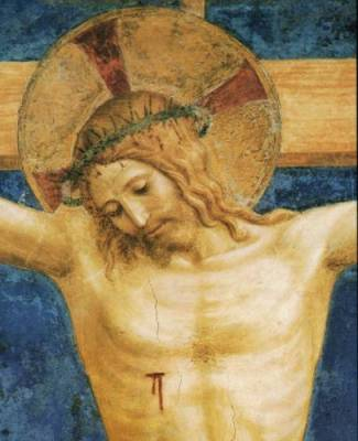 Detail from Fra Angelico's painting of Jesus Crucified