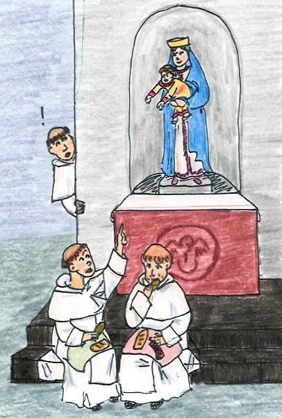 Cartoon illustration of Dominican novice master Bl. Bernard of Morass