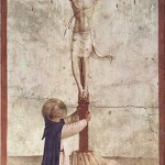 Painting by Fra Angelico, Crucifixion with St. Dominic