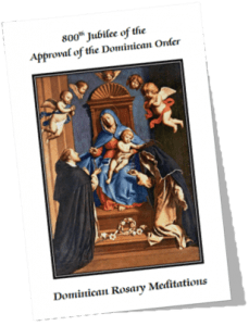 Dominican Rosary Meditations - Image of Booklet Cover