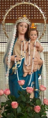 Photo of our statue of Our Lady of Alabama