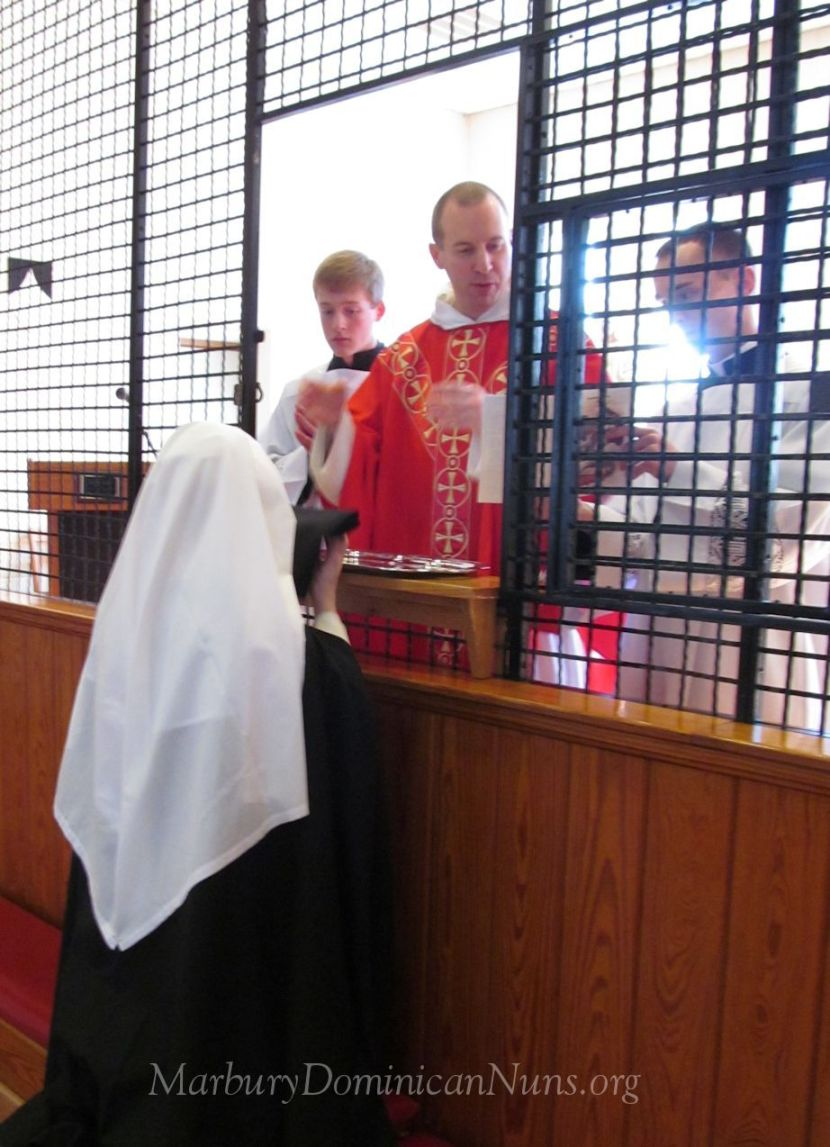Photo of Dominican novice at Profession Mass