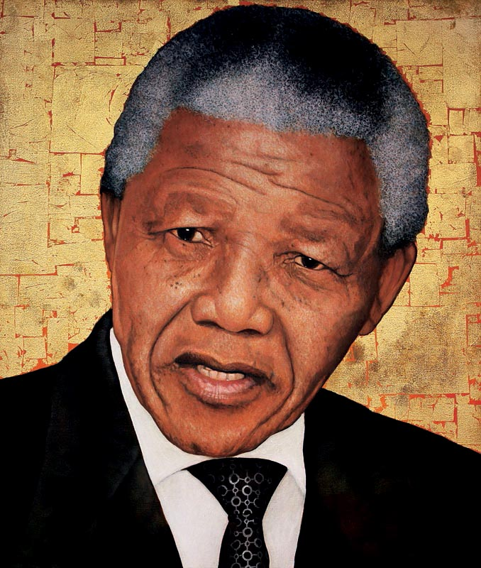 Nelson Mandela 'Icon', 60cm by 50cm, (2012).