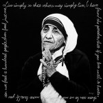 Mother Teresa #I, Oil and Steel Wire on Board, 100cm by 100cm. (2012)