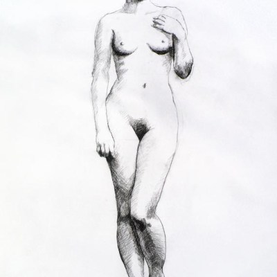 Female Nude #7, Charcoal on Paper. 42cm by 60cm, (2013)