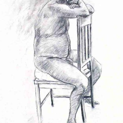 Male Nude #4, Charcaol on Paper. (2013)