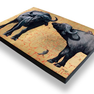 African Buffalo – Archival Canvas Print Stretched