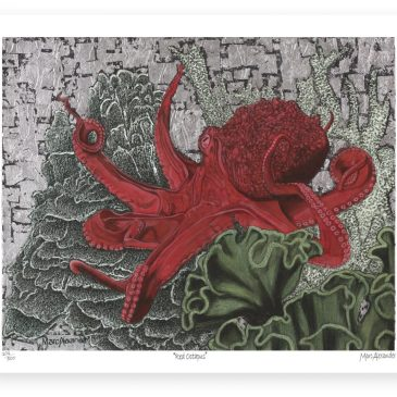 Red Octopus – Archival Paper Print