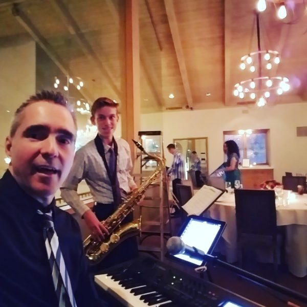 Los Angeles Pianist at The Villa in Woodland Hills with Nathan sitting in on sax.