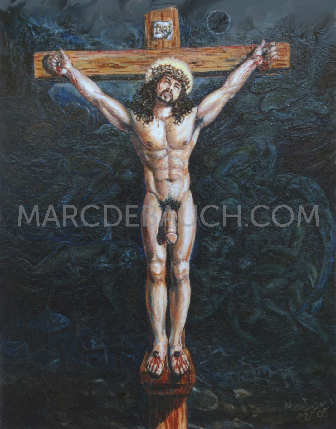 HUNG ON THE CROSS