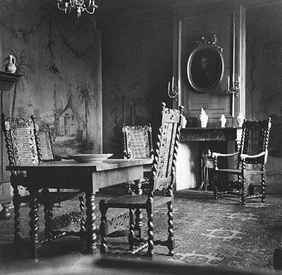De eetzaal in kateel Nederhemert 1942/1943