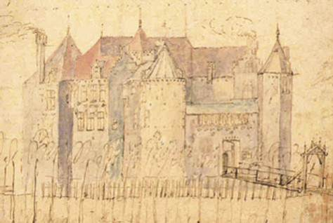 Anonieme tekening, begin 17e eeuw. bron: monumenten nl