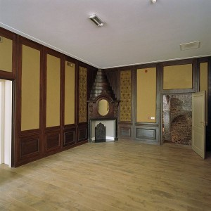 Een ruimte na de restauratie van kasteel Nederhemert.