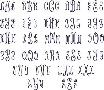 Picture of Geneva Monogram Font