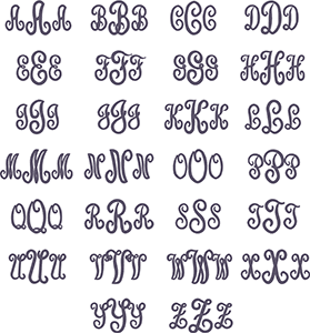 Picture of Upright Monogram Font