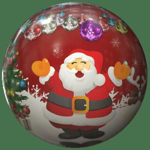 Cartoon kerstman op kerstbal