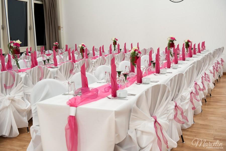 Hochzeit  WeissPink  Marcelin Eventdekoration Nrnberg