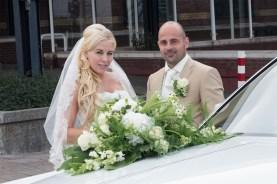 Illustratie: bruidsreportage, hoek van holland, station