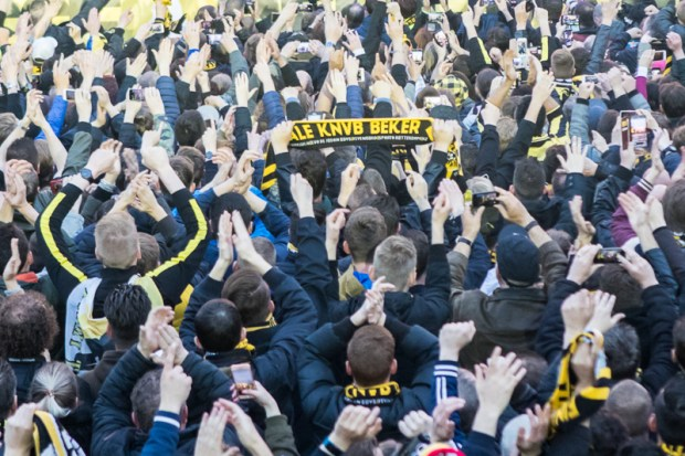 Huldiging Vitesse in Arnhem