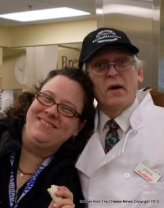 Amy Pitzer with Cheesemonger, Craig 2009