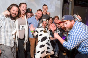 Adam with the 10 Finalists at 2015 Cheesemonger Invitational, NYC (he's the one in the cow suit...like I needed to add that...)