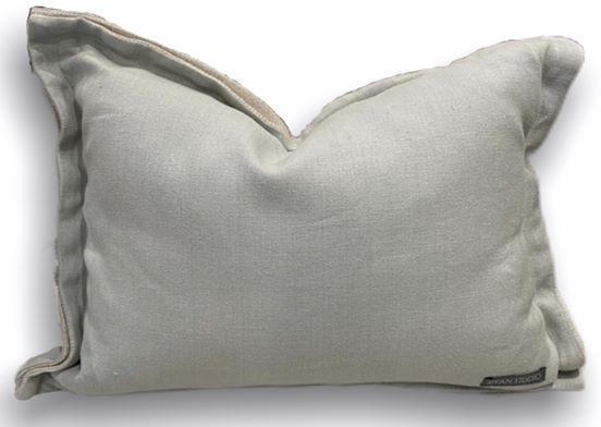 14 x 20 soft teal linen double flange pillow