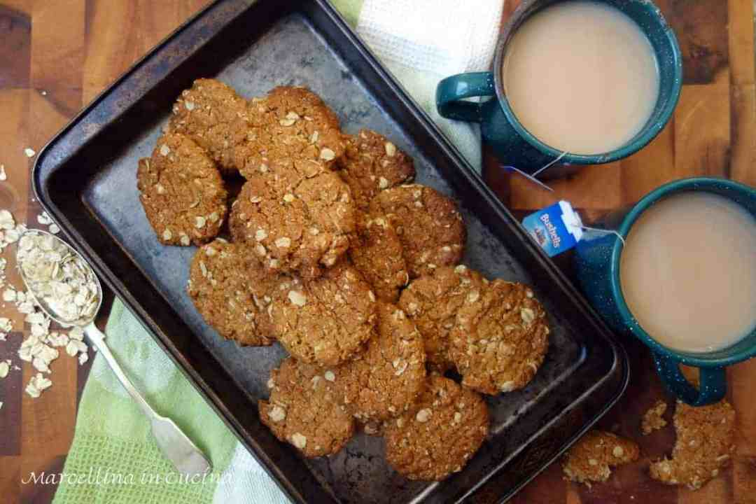Anzac Biscuits flavoured with the warmth of ginger