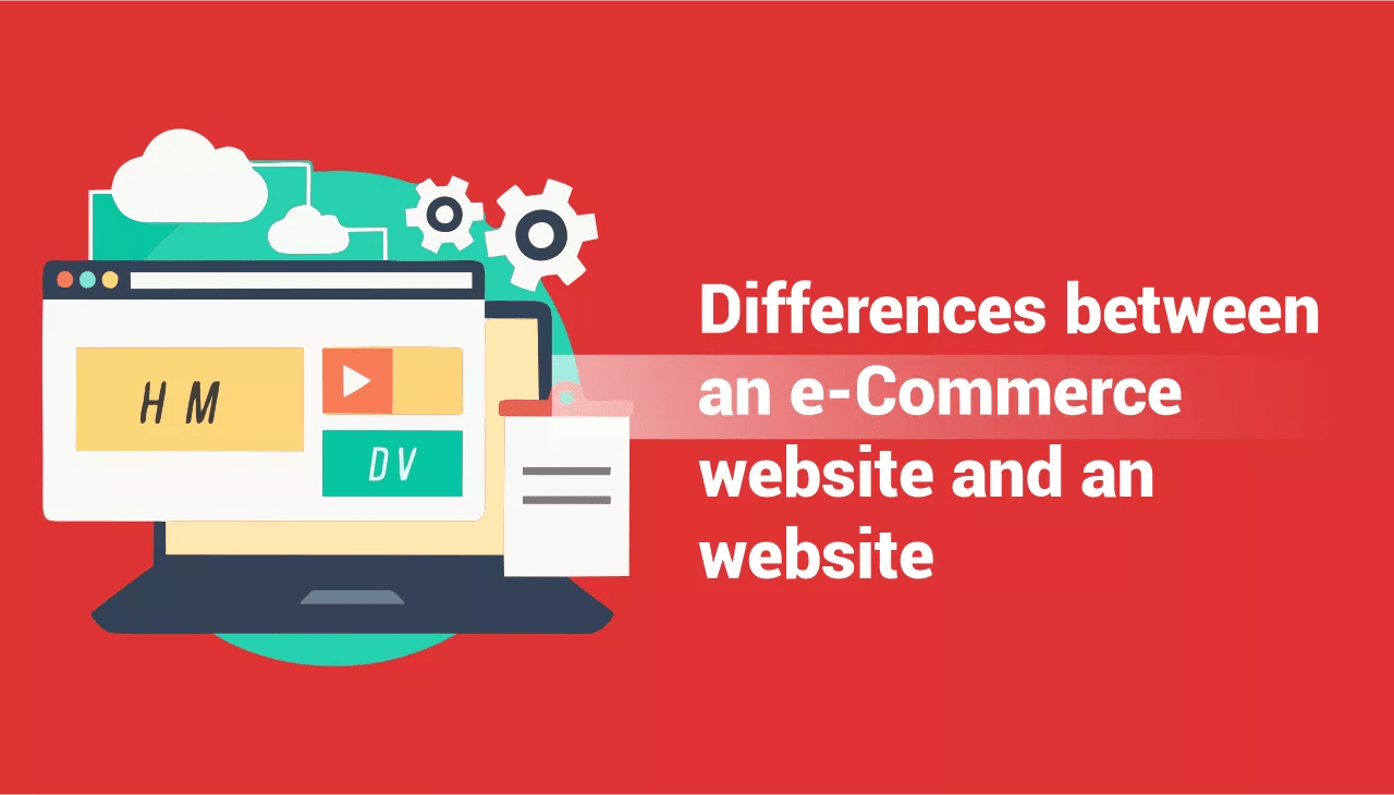 Commerce website and an website