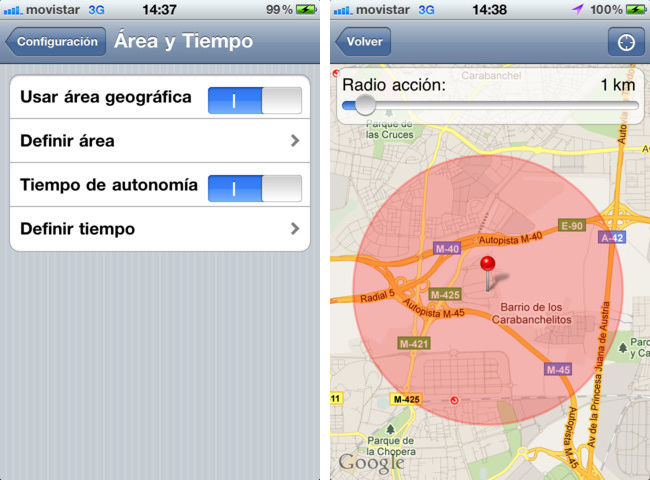 Tweri funcionando en iOS