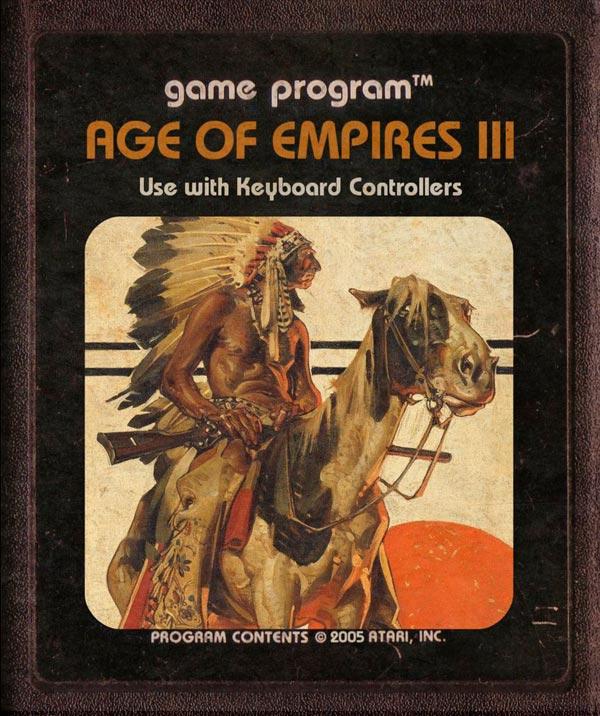 Videojuegos modernos como cartuchos de Atari - Age of Empires 3