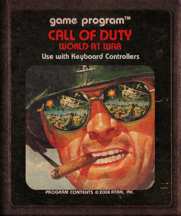 Videojuegos modernos como cartuchos de Atari - Call of Duty