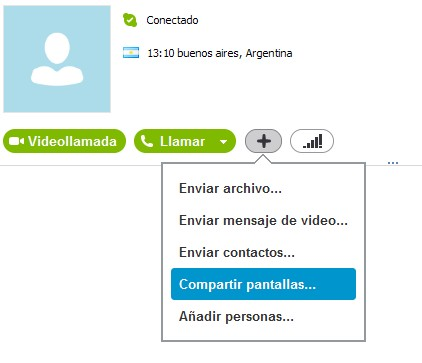 skype compartir pantallas