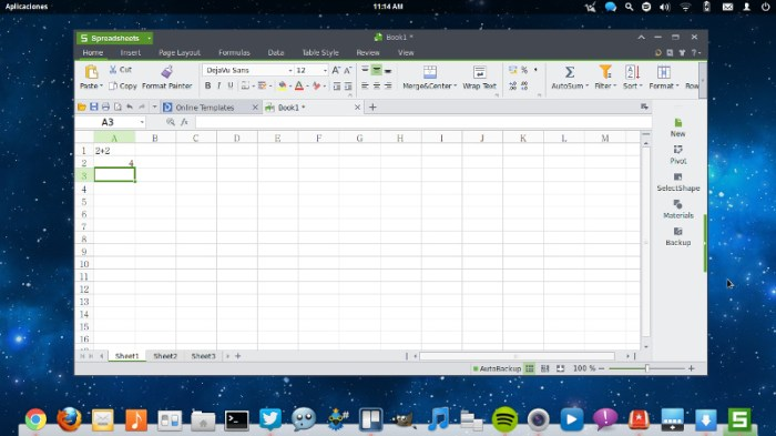 kingsoft office spreadsheets