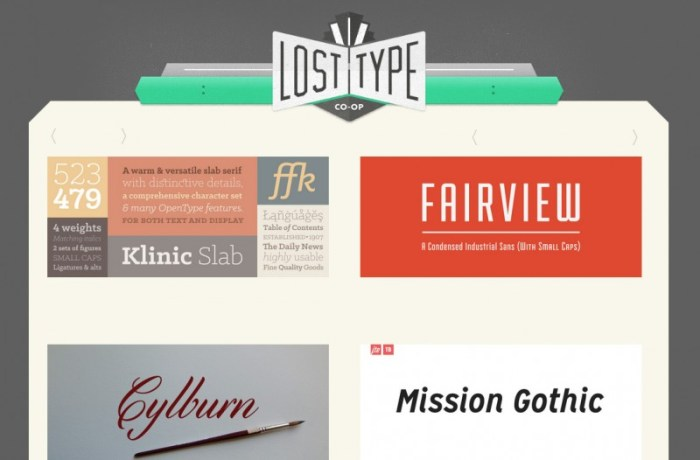 tipografías premium gratis the lost type co op