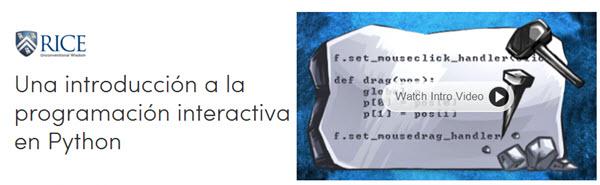 Una introducción a la programación interactiva en Python