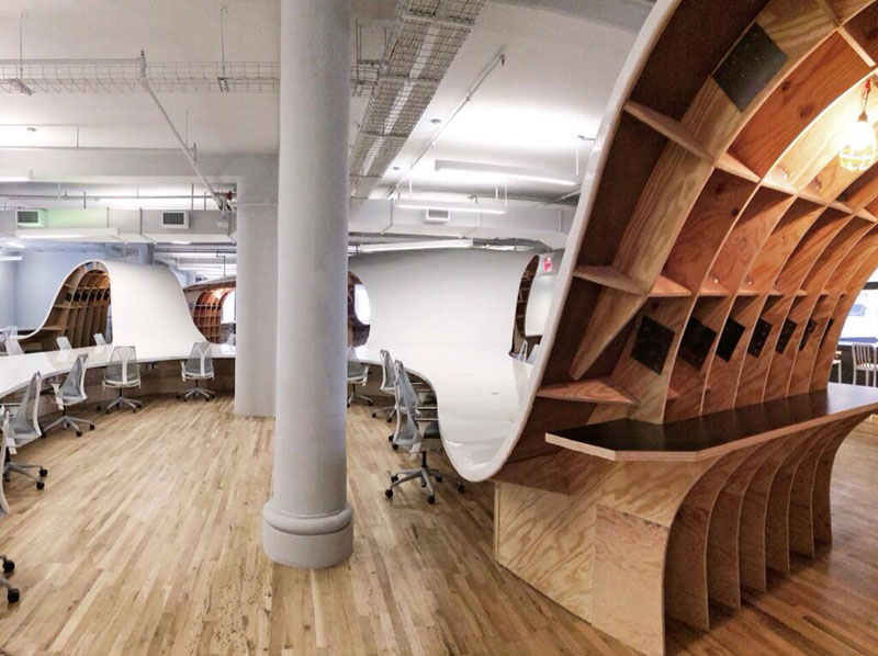 barbarian group nyc superdesk one giant office desk by clive wilkinson architects machineous (5)