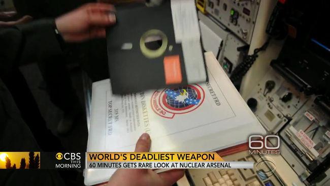 Disquete empleado por la USAF en una base de misiles