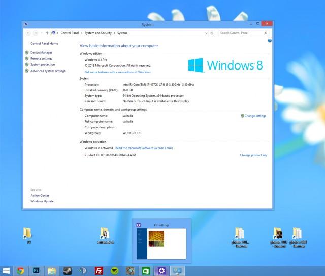 Windows 8.1 Update 1 Desktop