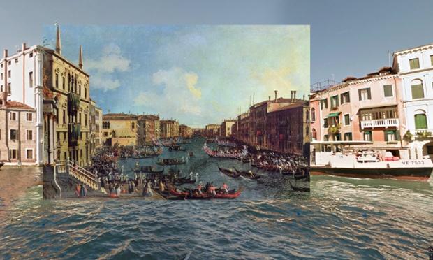 Venice - A Regatta on the Grand Canal - 1740 - Canaletto
