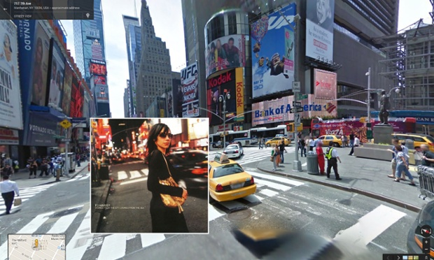 Album covers in Google Street View