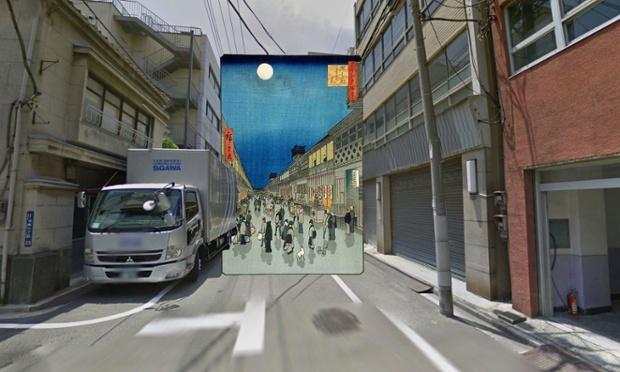 Night view of Saruwaka Street (Tokio) - 1856 - Hiroshige