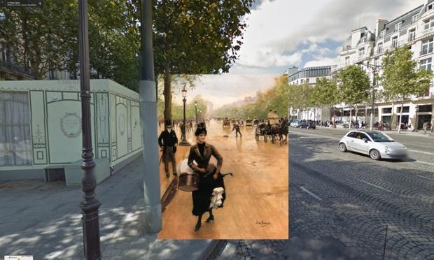 Paris - La Modiste Sur Les Champs Elysees - 1889 - Jean Beraud