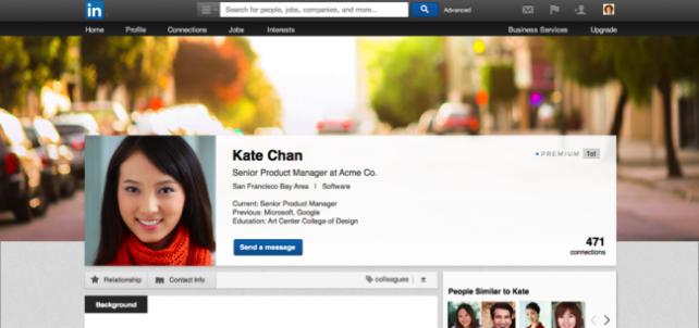 LinkedIn nuevo diseño