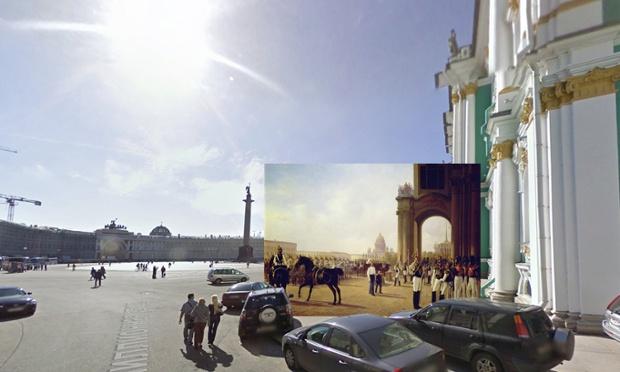 St Petersburg - Palace Square - 1800s - Adolphe Ladurner