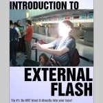 external flash photography