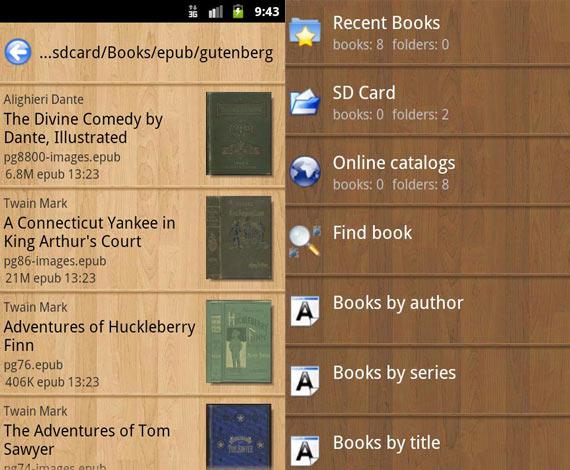Aplicaciones Android para leer libros