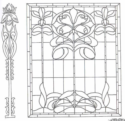 Free Printable Art Nouveau and Art Deco Patterns Collection